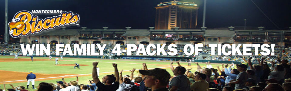 Win Family 4-Packs of Tickets to the Montgomery Biscuits